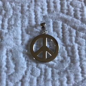 Other - Sterling Silver Peace Earings with matching Charm